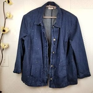 Quacker Factory | Denim Jean Jacket Embellished